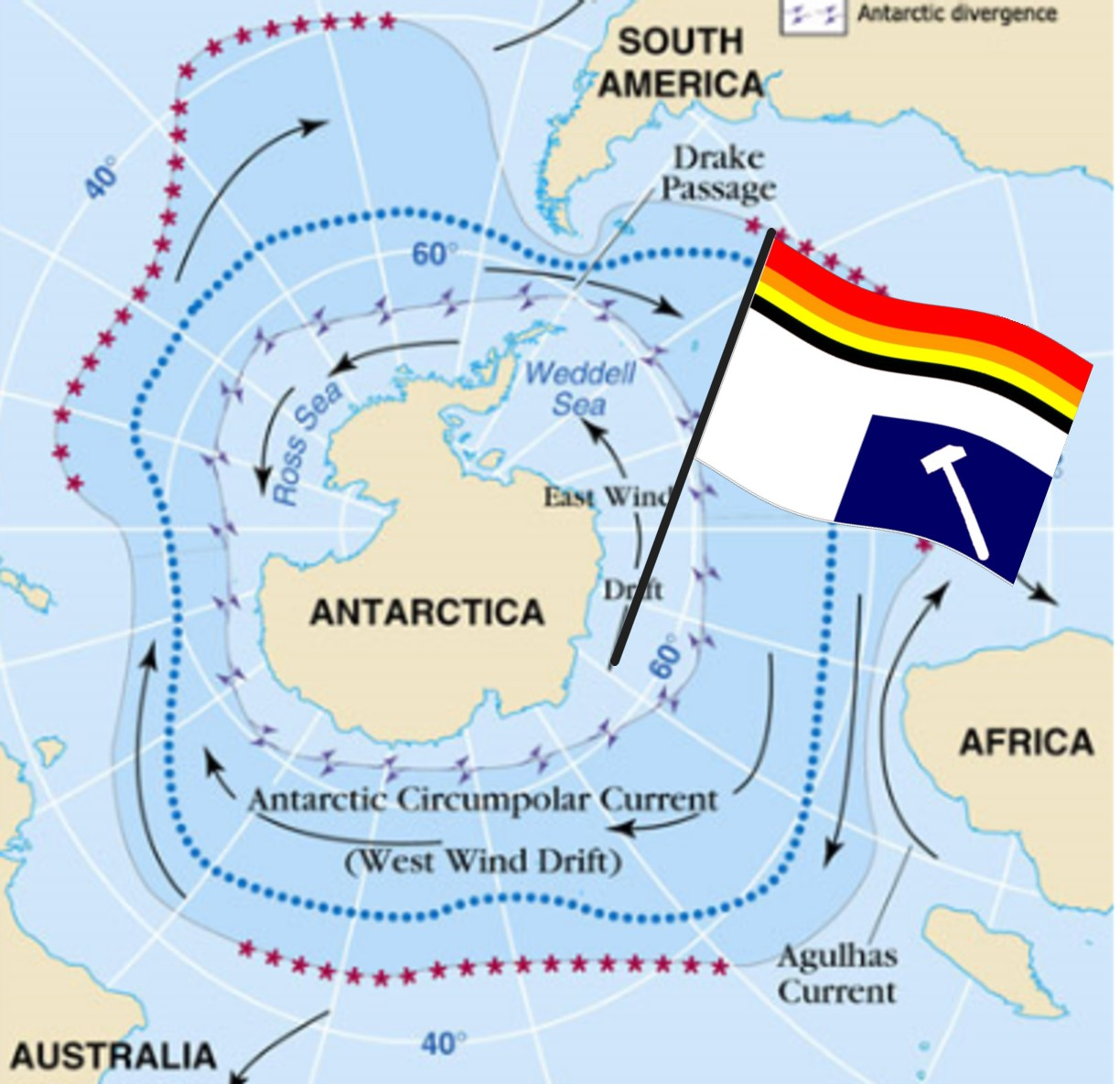 The voice of vexillology flags heraldry antarctic ocean flag antarctic ocean flag or southern ocean flag gumiabroncs Gallery
