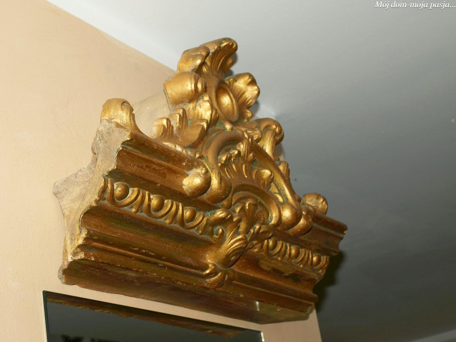 portal , zwieńczenie komina , lustro , mój dom moja pasja , pomysł na ścianę , dekoratornia