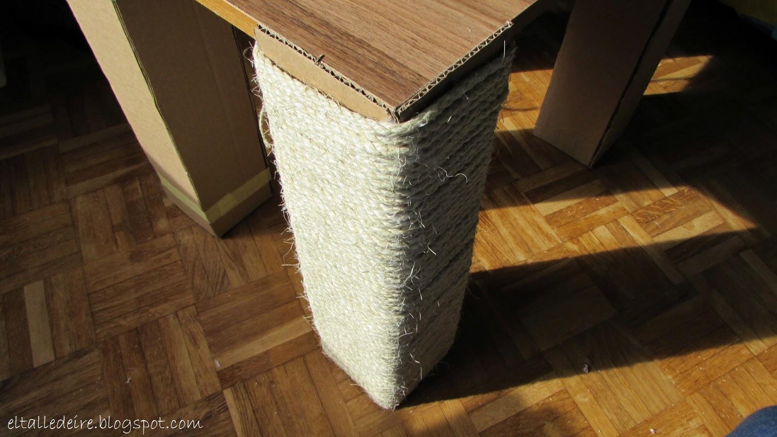 C Mo Hacer Una Mesa Con Cart N Y Una Tabla De Madera El Taller  # Muebles De Tubos De Carton