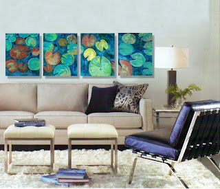 triptych, contemporary wall art
