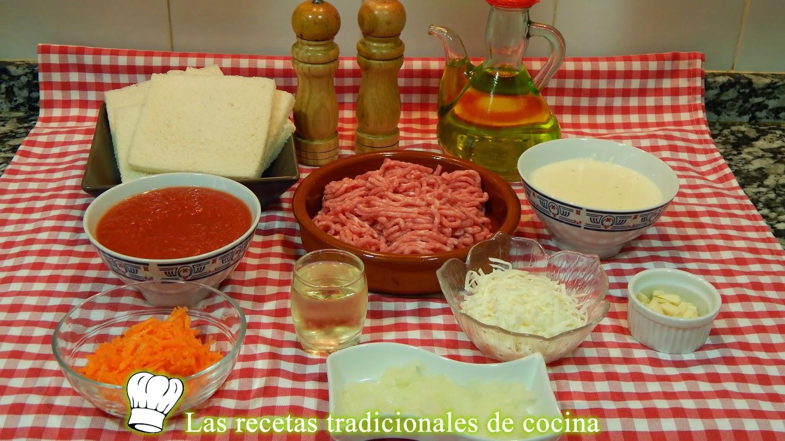 Receta fácild e lasaña de carne con pan de molde