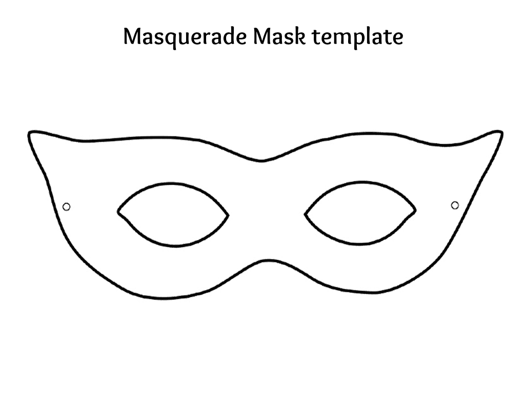 Unusual image regarding masquerade mask template printable