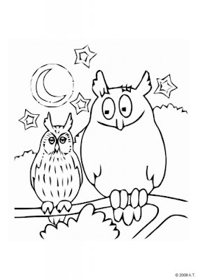 Baby Owl Coloring Sheets