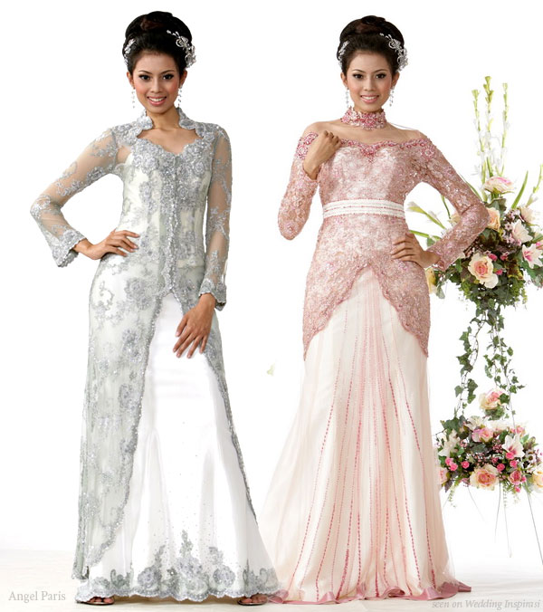 traditional and modern wedding kebaya wedding dress