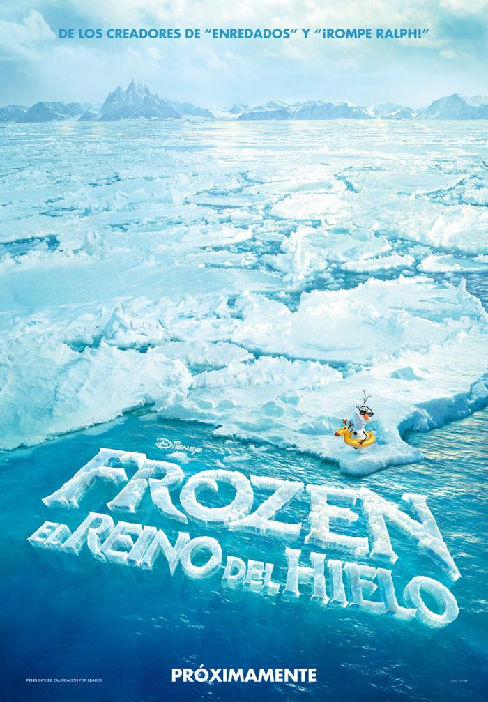 Primer póster de Frozen El reino del Hielo