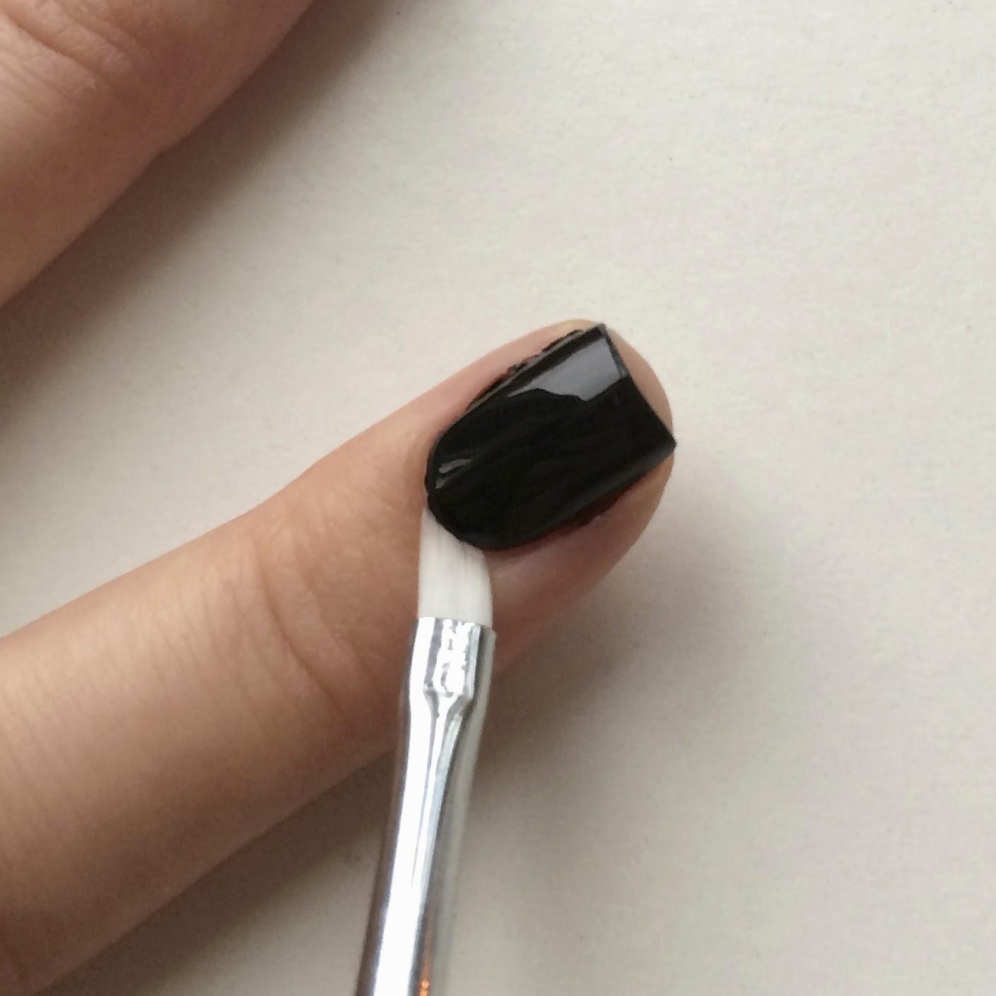 Use an Angled Nail Art Brush