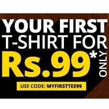 Buy T-shirt Starts at Rs.99 Via Freecultr.com :Buytoearn