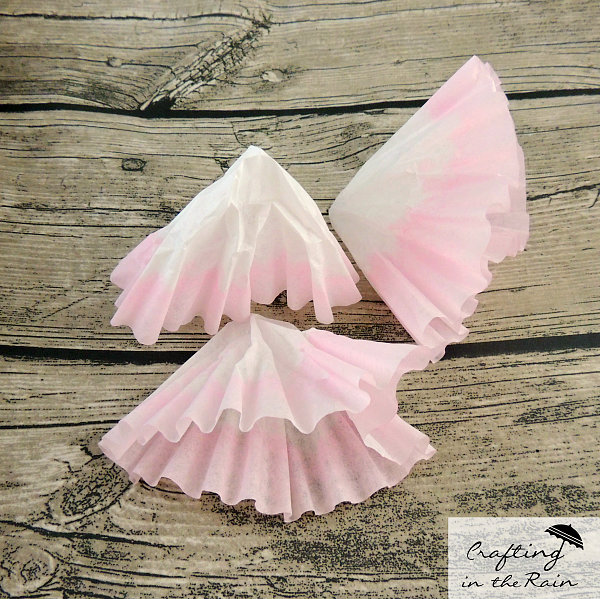 Make a Coffee Filter Flower || Crafting in the Rain