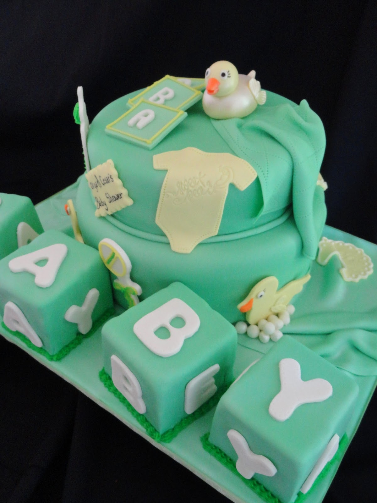 Pink Little Cake Ducky Baby Shower Cake