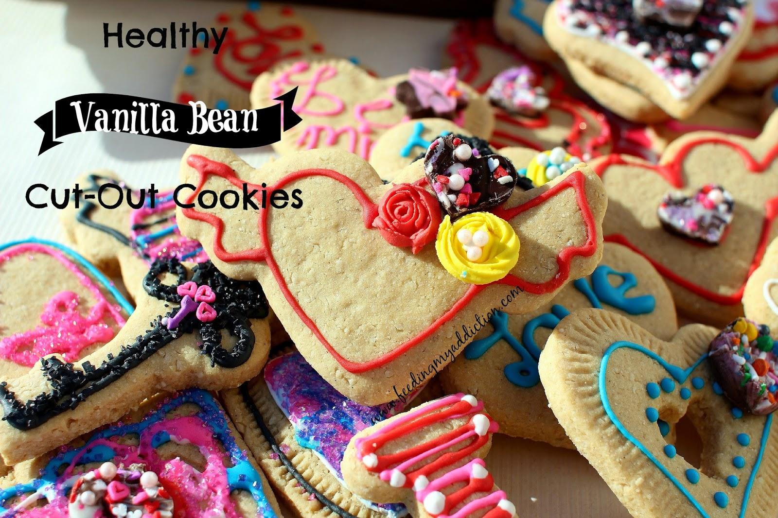 Feeding My Addiction Healthy Vanilla Bean Cut Out Cookies
