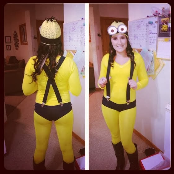 Front and back of minion costume  sc 1 st  Wiscobeauty & Wiscobeauty: DIY: Minion Halloween Costume