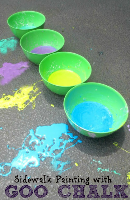 Sidewalk GOO Chalk recipe