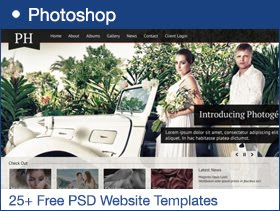 25+ Free PSD Website Templates