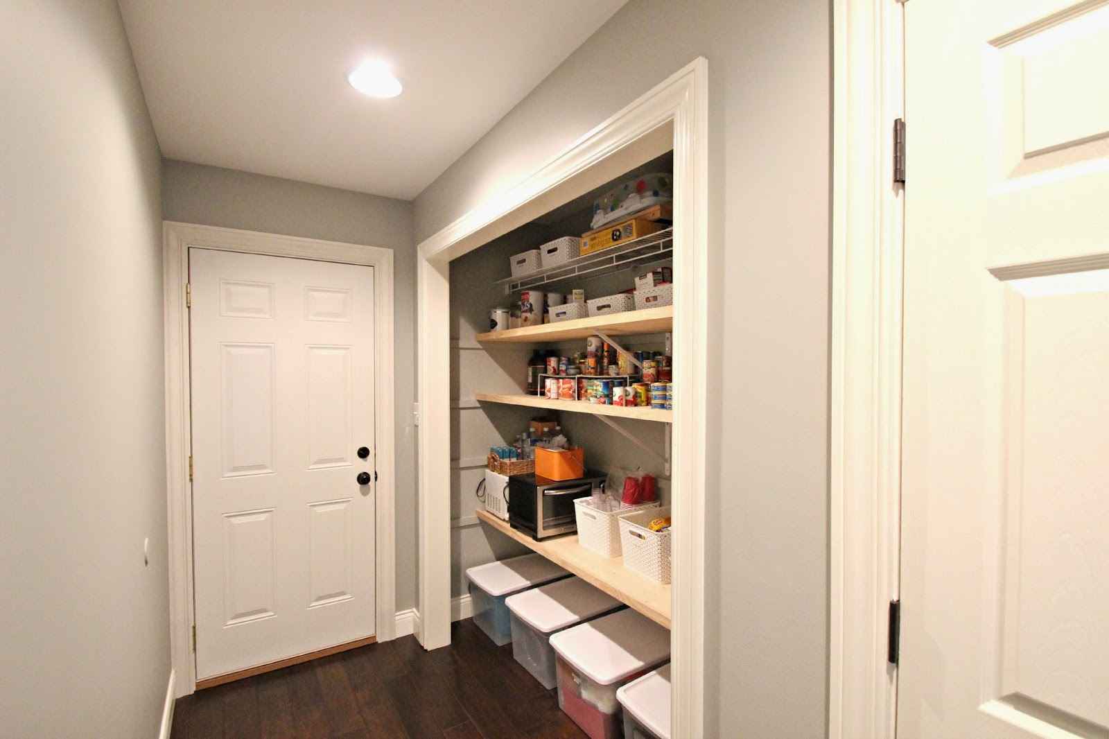 hello stripes pantry mudroom before after