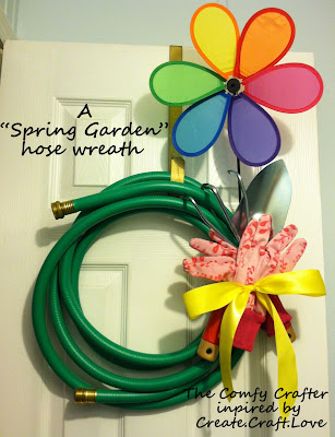 Spring Garden Hose Wreath by Mandy of The Comfy Crafter