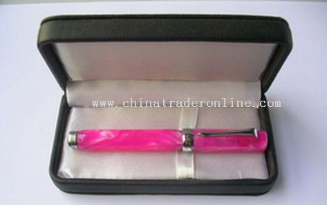 Ballpoint Pen On Leather2
