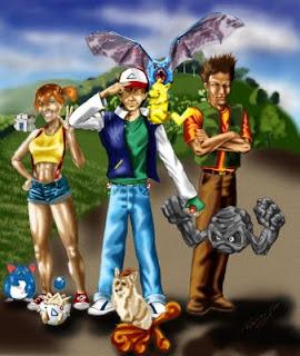 ilustração do desenho pokemon colorida