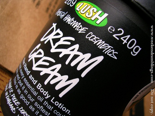 lush dream cream hand and body lotion reviews ingredients blog