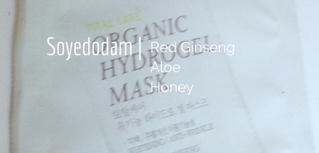 Soyedodam Organic Ginseng Hydrogel Mask Review Soyedodam Total Care Organic Hydrogel Mask 소예도담 토탈케어 유기농 하이드로겔 마스크