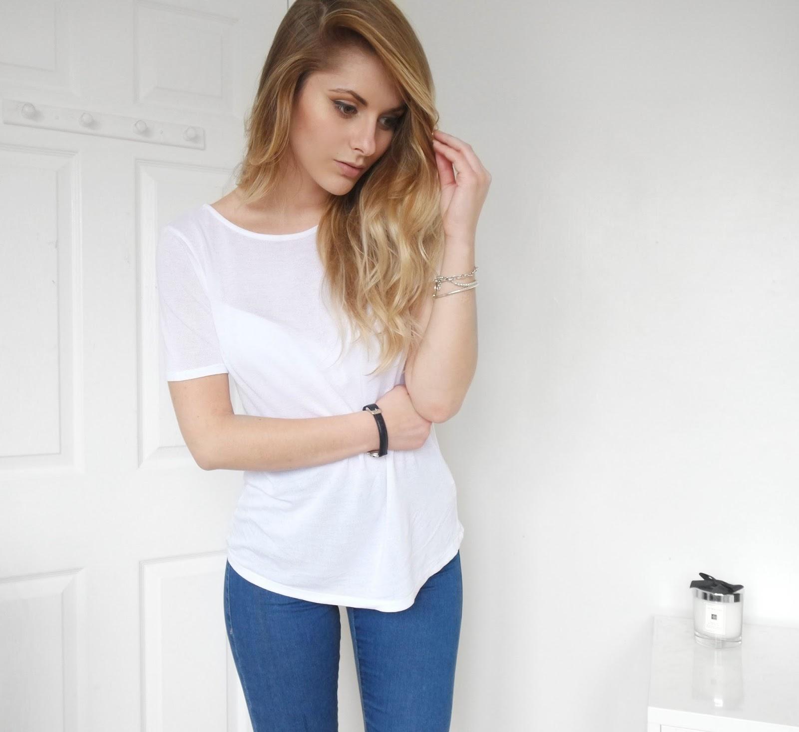 White t shirt blue jeans - Blue Jeans White Shirt