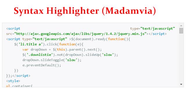 Cara Membuat Syntax Highlighter (Kotak Script)