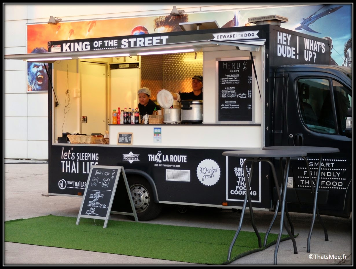 Foodtruck Thaï La Route streetfood Paris Bibiliothèque françois Mitterand MK2, king of street food asian