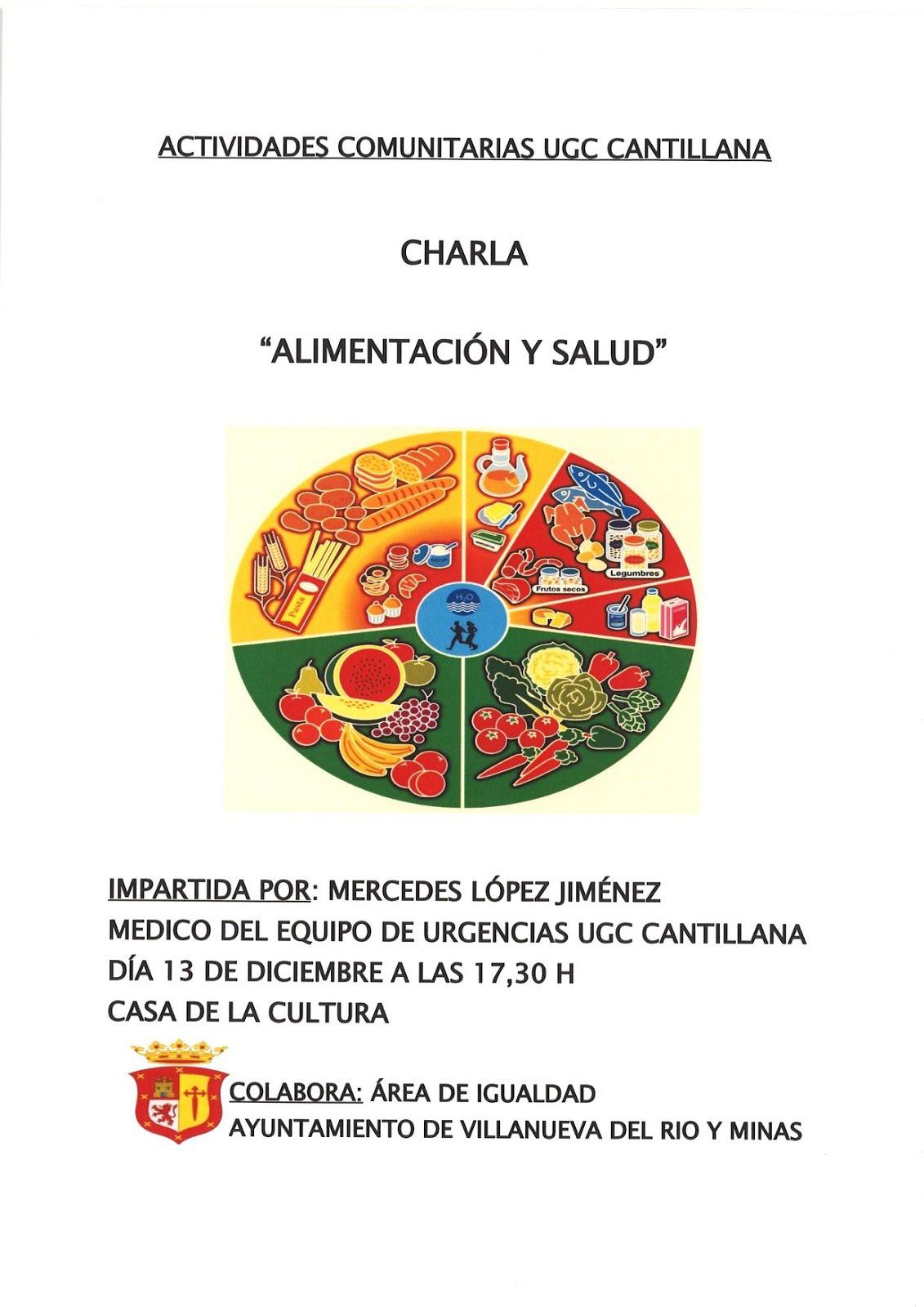 """CHARLA """"ALIMENTACIÓN Y SALUD"""""""