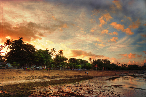Sunset In Sanur