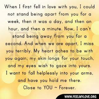 When I first fell in love with you