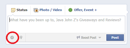 Schedule Facebook Posting Icon