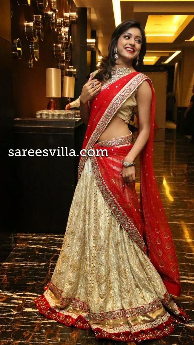 Vithika Seru in designer half saree