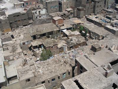 Techos de los edificios de El Cairo: Egipto