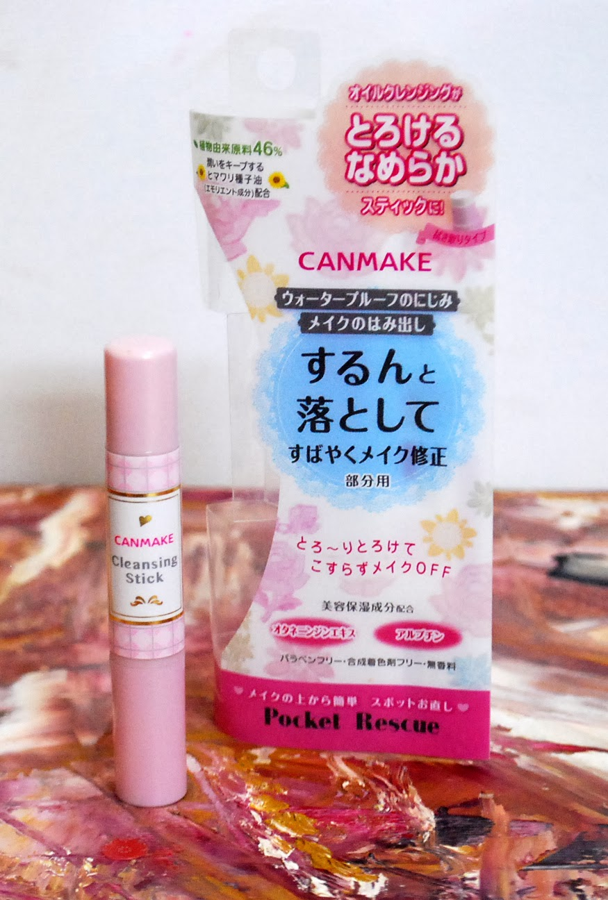 Peachy Pink Sisters Canmake Pocket Rescue Cleansing Stick R 02 Pixy Moisture Lipstick 38gr