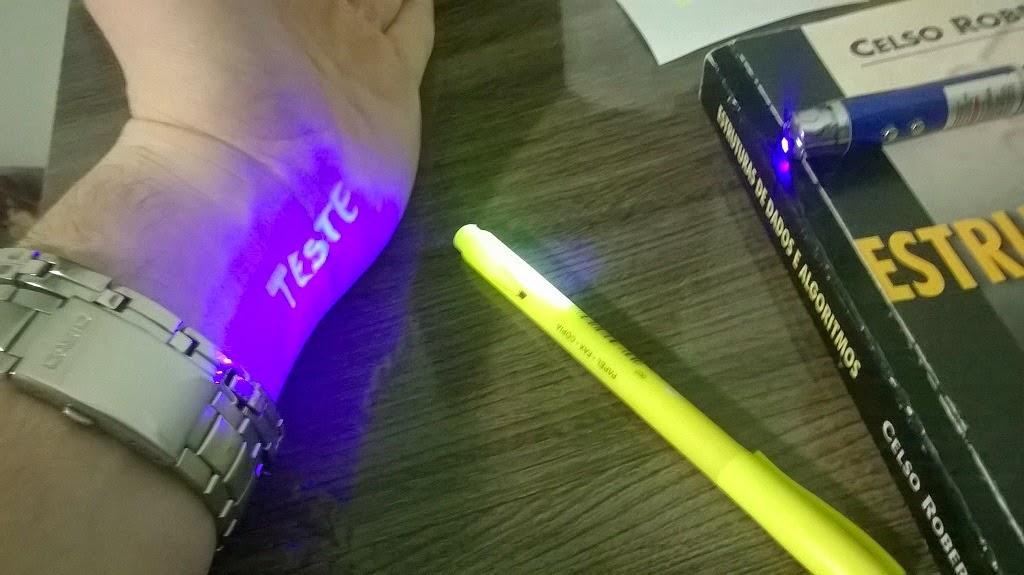 luz negra caneta marca texto