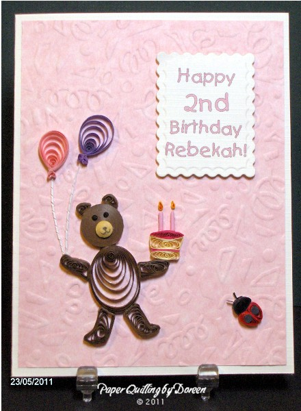 Paper Quilling Birthday Cards For Sister Birthday Card Ideas