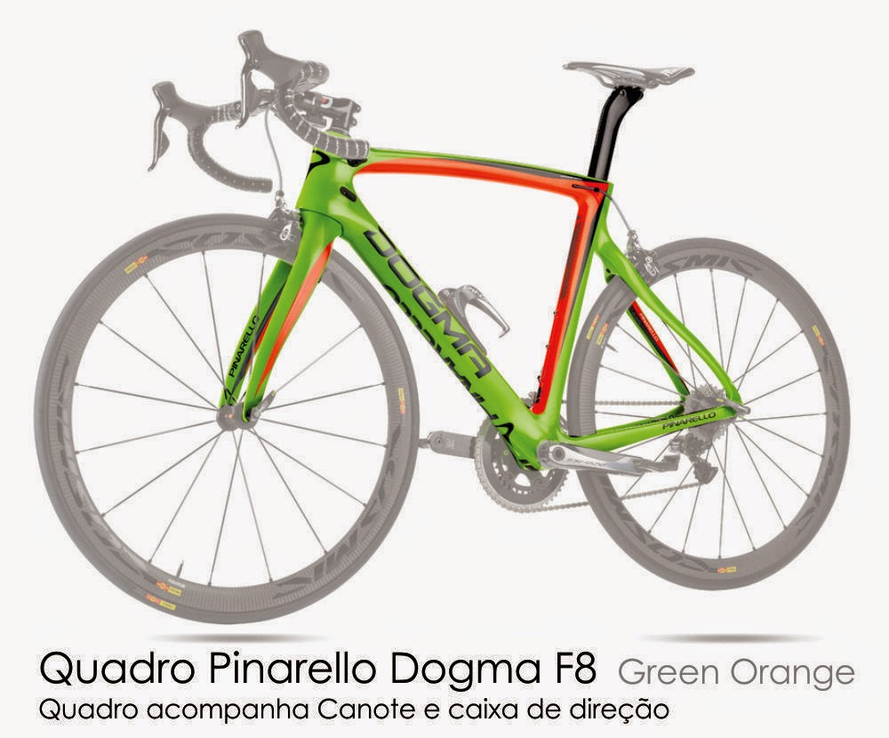 Quadro Pinarello F8 -  Green Orange