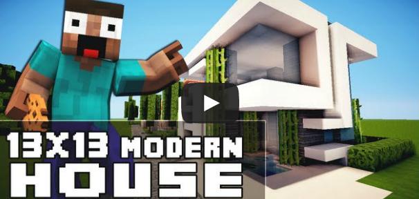 Minecraft House Tutorial 13x13 Rumah Modern Matacraft