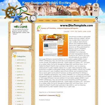 Keep Guatemala Holiday Exciting blogger template