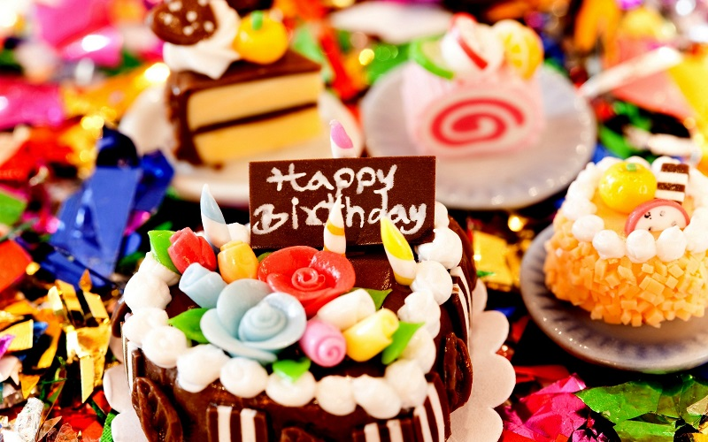birthday wishes colorful candy