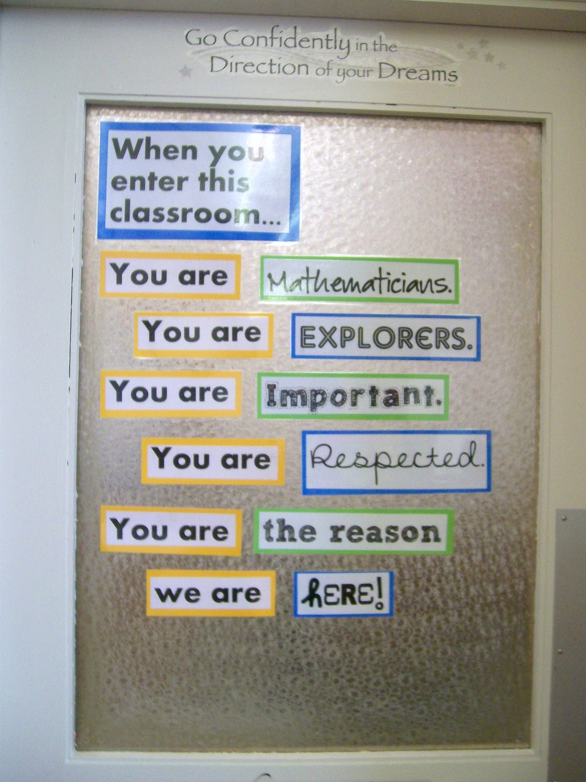 Classroom Decor Math ~ Math love my classroom is done
