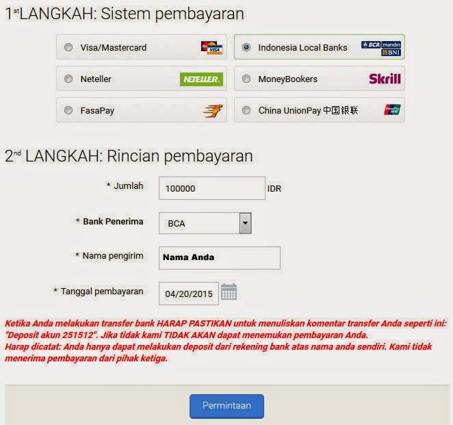 Cara deposit di indonesia