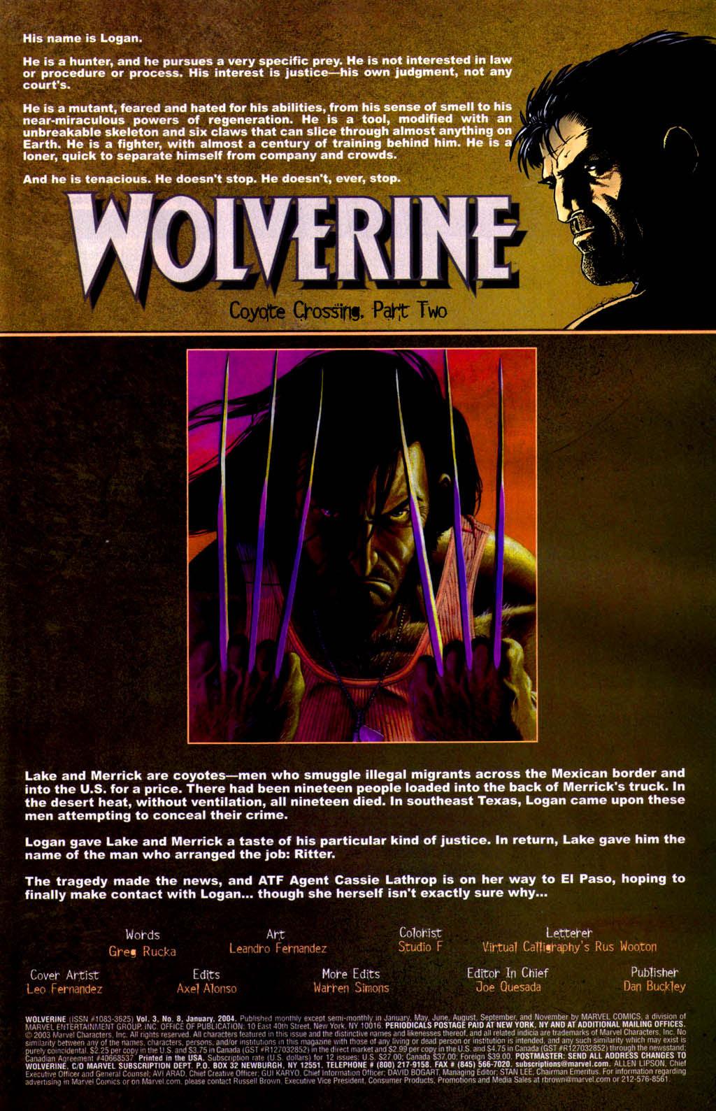 Read online Wolverine (2003) comic -  Issue #8 - 2