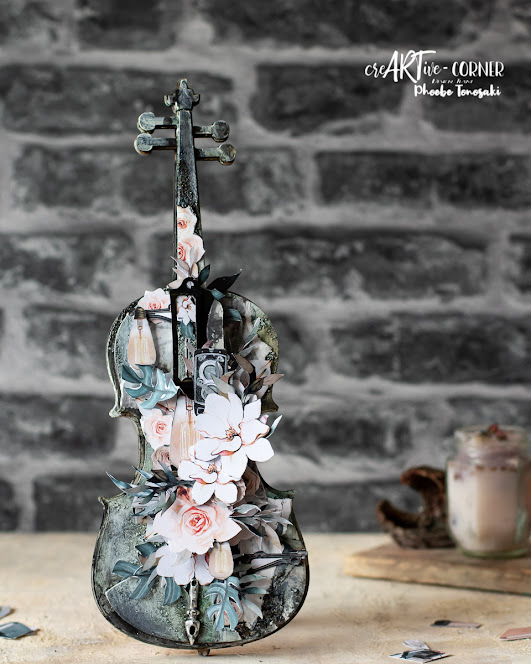 Mixed Media altered violin