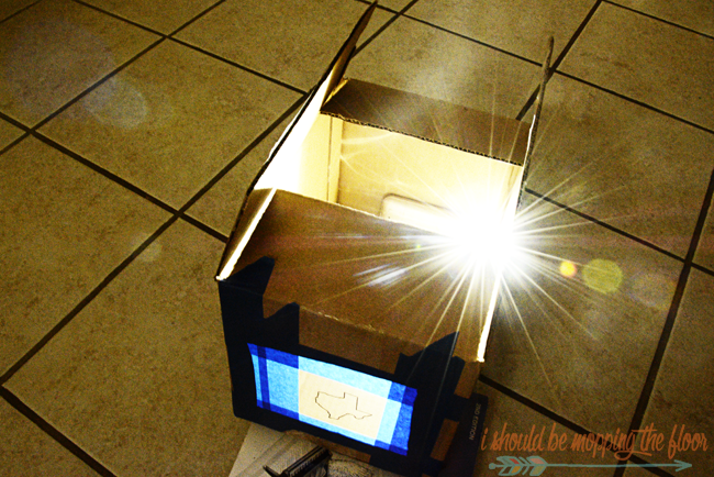 How to make a DIY Cardboard Box and iPhone Projector | Includes painting technique for the DIY State Art made with the projector, too.