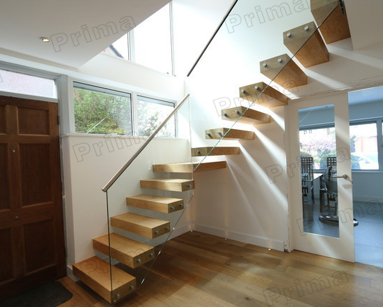 International Standard Stainless Steel Modern Steel Wood Staircase Stainless Steel Staircase Railings Design