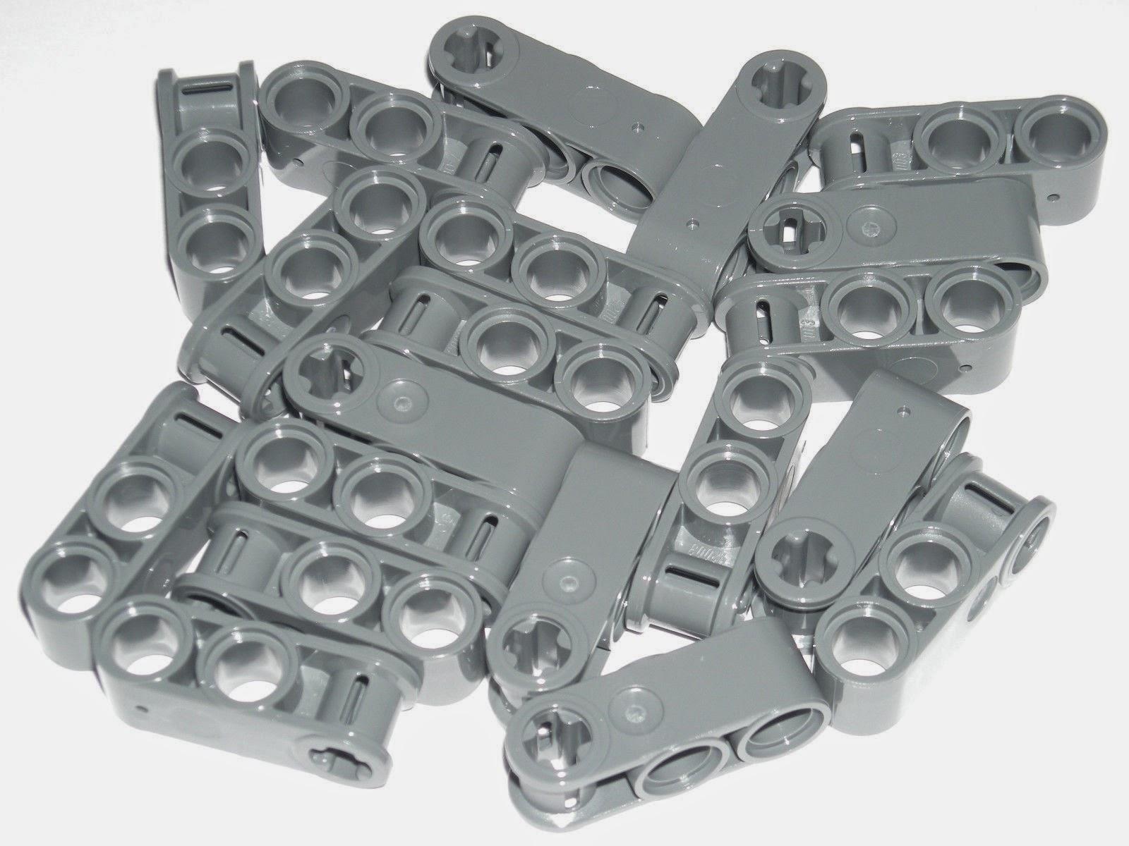 LEGO 20 Dark Bluish Gray Technic Axle and Pin Connectors Perpendicular 3L 42024