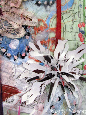 Art Quilts Around The World:  Snowflakes by Marty Mason