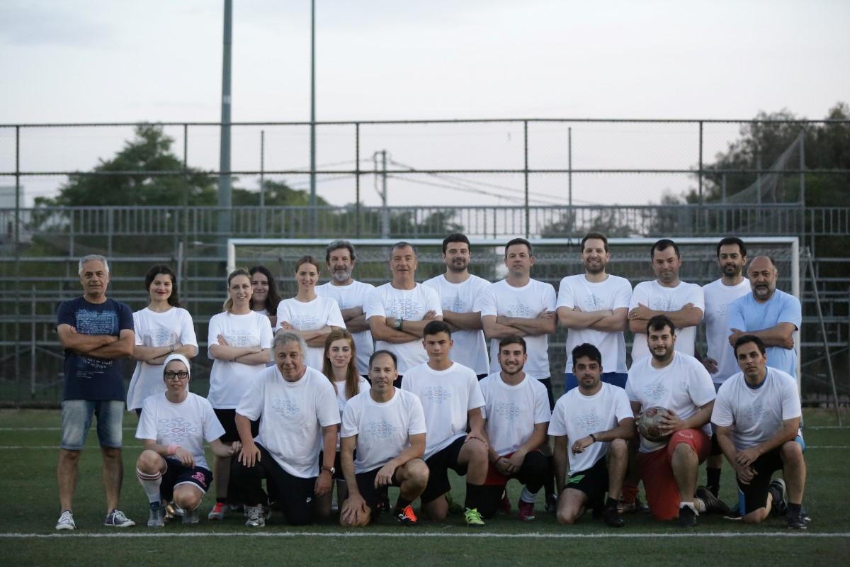Φιλικός ποδοσφαιρικός αγώνας με την Εθνική αστέγων