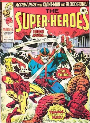 Marvel UK,  The Super-Heroes #47, Thing and Iron Man vs Thanos