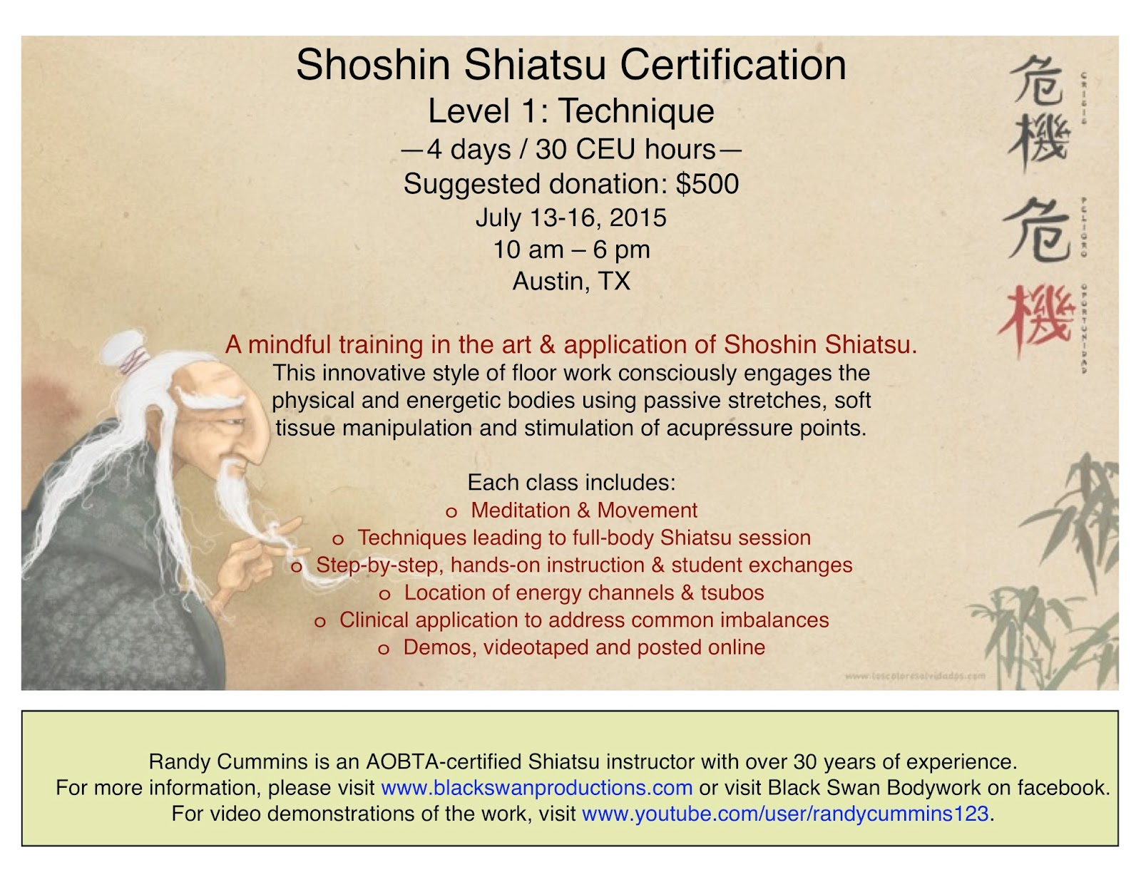 Black swan teaches 4 day 30 ceu shoshin shiatsu certification 4 day 30 ceu shoshin shiatsu certification july 13 16 xflitez Gallery